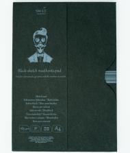 Альбом SM-LT Art Authentic Black 165г/м2 A4 30листов в папке склейка по длинной стороне