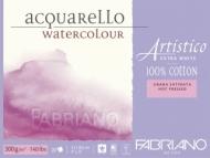 Блок для акварели Fabriano Artistico Extra White 300г, хлопок, 23x30,5см, Сатин 20л