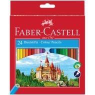 """Карандаши Faber-Castell """"Замок"""", 24цв., заточен., картон, европодвес"""