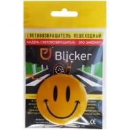 """Световозвращающий значок Blicker """"Смайлик"""", 56мм, желтый"""