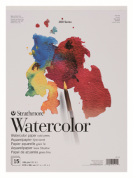 Альбом для акварели Strathmore 200 Series Watercolor 190г/кв.м, 27,9х38,1см, 15л