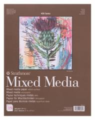 Альбом для смешанных техник Strathmore 400 Mixed Media 300г, 28х35,6см, 15л