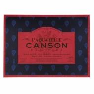 Блок для акварели Canson Heritage 300г/кв.м (хлопок) 36*51см 20листов Сатин склейка по 4 сторонам