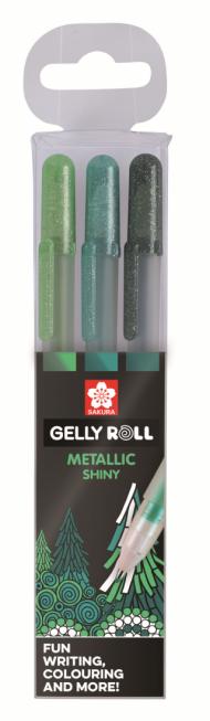 Набор гелевых ручек Sakura Gelly Roll Metallic Лес 3 штуки в блистере
