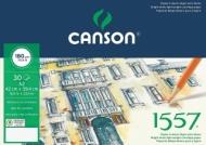 Альбом для графики Canson 1557 Dessin Ja 180г/кв.м 42*59.4см 30листов Малое зерно склейка по короткой стороне