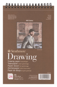 Альбом для графики Strathmore 400 Series Drawing 163г/кв.м, 14,8х21см, 24л
