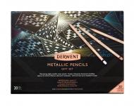 Набор цветных карандашей Derwent Metallic 20th Anniversary 20 цветов в картонной подарочной упаковке