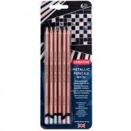 Набор цветных карандашей Derwent Metallic пастельные цвета 6цв в блистере
