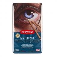 Набор цветных карандашей Derwent Lightfast 12 цветов, металлический пенал
