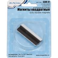 Магниты с клеевым слоем на вспененной основе Mr.Painter, прямоугольные 12.7x12.7мм, 8 шт.