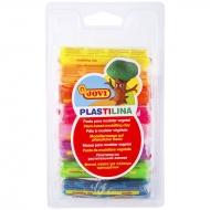 Пластилин растительный JOVI, 8 флуоресцентных цветов