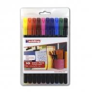 Набор фломастеров для рисования Edding 1200, 0.5-1 мм, 10 цветов, на водной основе