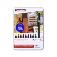 Набор фломастеров для рисования Edding 1300, 2 мм, 10 цветов, на водной основе