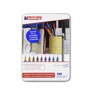 Набор капиллярных ручек-линеров для рисования, письма и черчения Edding 55, 0.3 мм, 10 цветов