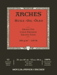 Альбом для масла Arches Huile 300г/кв.м 31*41см 12листов склейка по короткой стороне