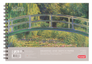 Альбом для зарисовок Bruynzeel National Gallery 160г/м.кв А4 40л спираль по короткой стороне