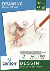 Альбом для графики Canson Dessin 160г/м.кв 21*29.7см 20л склейка