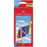 Карандаши Faber-Castell 12цв., трехгран., заточен., картон, европодвес, с точилкой