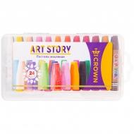 "Пастель масляная Crown ""ArtStory"", 24 цвета, пластиковая упаковка"