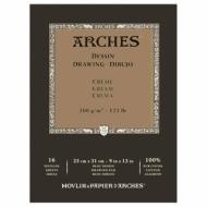 Блок для графики Arches Traditionnel 200г/кв.м 23*31см 16листов Среднее зерно склейка по 1 стороне