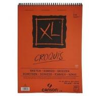 Альбом для графики Canson Xl 90 г/кв.м, 42*59.4 см, 60 листов Слоновая кость, спираль по короткой стороне
