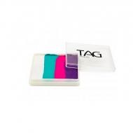 Профессиональный гипоаллергенный аквагрим сплит-кейк TAG «Единорог», 50г, 4 цвета