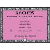 Блок для акварели Arches 300г/кв.м (хлопок) 36*51см 20л Сатин, склейка