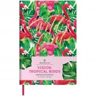 Ежедневник недатированный Greenwich Line Vision.Tropicalbirds, формат A5, 136 л., обложка кожзам, тонированная бумага
