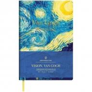 Ежедневник недатированный Greenwich Line Vision.VanGogh, формат B6, 136 л., обложка кожзам, тонированная бумага