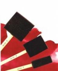 Кисть для батика по грунту, №1, d 25, поролон, плоская 68