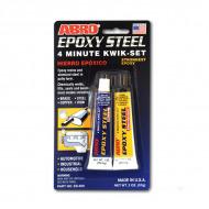 Клей эпоксидный высокопрочный ABRO ES-509 для герметизации, склеивания металлов, 57 гр
