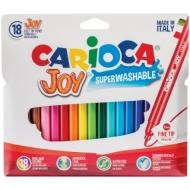"""Фломастеры Carioca """"Joy"""", 18цв., смываемые, картон, европодвес"""