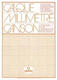 Склейка миллиметровой кальки Canson 70г/м.кв 29.7*42см Оранжевая 50 листов