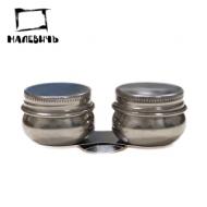 Масленка металлическая двойная с крышкой, Малевичъ