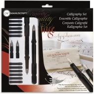 Набор Manuscript Calligraphy 4 (2 ручки, 12 картриджей и 4 пера) для левшей, в блистере