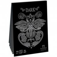"Скетчбук - планшет 30л. А4 на склейке Лилия Холдинг ""Dark"", 160г/м2, черная бумага"