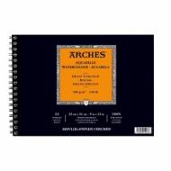 Альбом для акварели Arches 300г/кв.м (хлопок) 23*31см 12листов Торшон спираль по короткой стороне