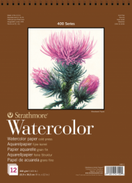 Альбом для акварели Strathmore 400 Series Watercolor 300г/кв.м, 22,9х30,5см, 12л