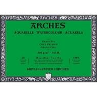 Блок для акварели Arches 300г/кв.м (хлопок) 18*26см 20л Фин, склейка