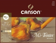 """Альбом для пастели Canson Mi-Teintes 5 """"коричневых"""" цветов 160г/кв.м 32*41см 30листов склейка"""