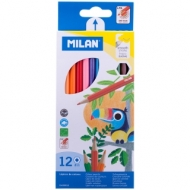 "Карандаши Milan ""211"", 12цв., заточен., картон, европодвес"