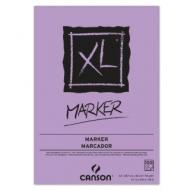 Альбом для маркера Canson Xl 70г/кв.м 29.7*42см 100листов Белая гладкая склейка по короткой стороне