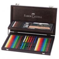 """Набор художественный Faber-Castell """"Art & Graphic Compendium"""", 54 предмета, деревянная коробка"""
