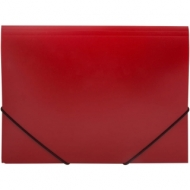 Папка на резинке OfficeSpace А4, 500мкм, красная