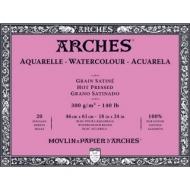 Блок для акварели Arches 300г/кв.м (хлопок) 46*61см 20л Сатин, склейка