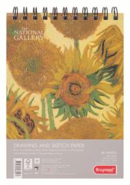 Альбом для зарисовок Bruynzeel National Gallery 160г/м.кв А5 40л спираль по короткой стороне