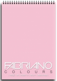 Блокнот для зарисовок Fabriano Colours 80г/м.кв 21x29,7см Розовый 100л спираль по короткой стороне