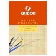 Бумага миллиметровая Canson 90г/кв.м 21*29.7см Оранжевая 50 листов