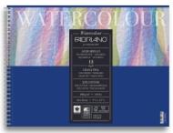 Альбом для акварели Fabriano Watercolour Studio 300г/кв.м (25%хлопок) 24x32см Фин 12л спираль по короткой стороне