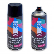 Аэрозольная краска по пластику DECORIX 520 мл